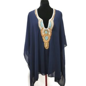 2-layed Beach Cover-up/Blouse L